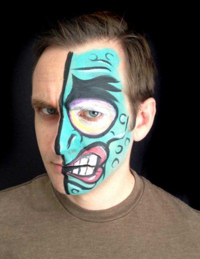 Daniel with Two Face (Batman) Face Paint