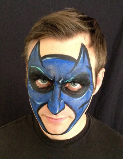 Photo of Daniel with Batman Facepaint