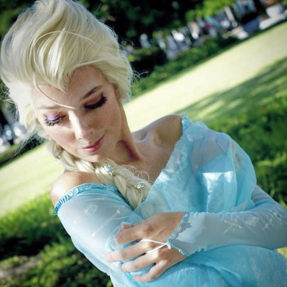 Photo of Christina Dressed in a Princess Costume