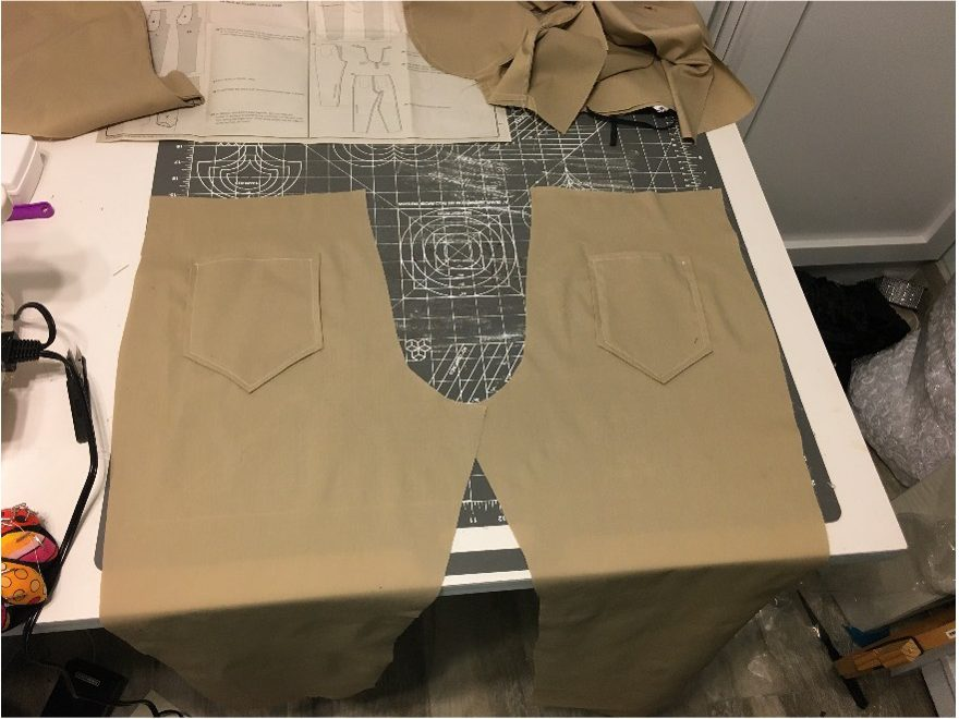 Butt Panel being cut and assembled on the work table